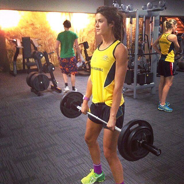 Anna Flanagan weights