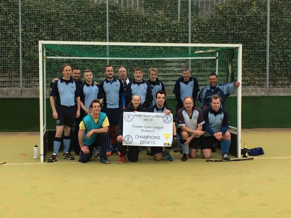 South Saxons Mens Hockey Club after winning promotion