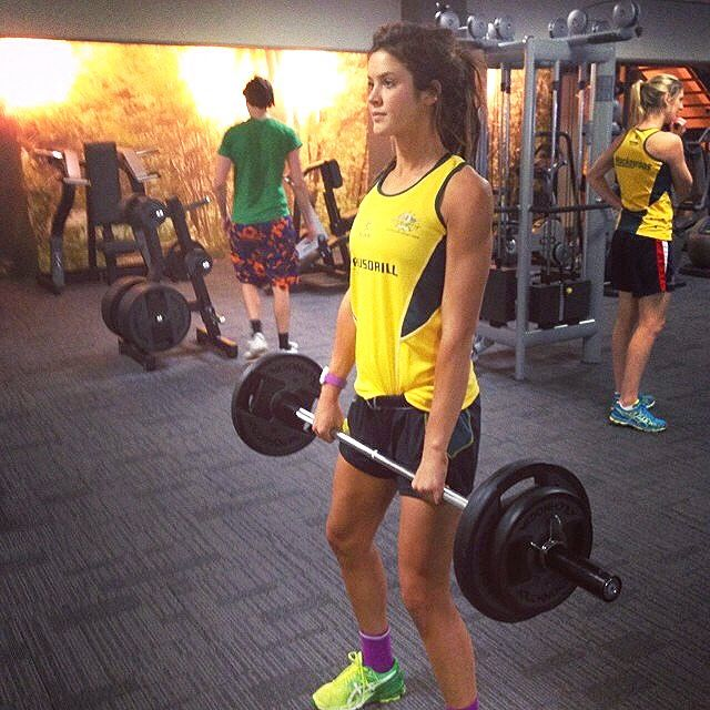 Anna Flanagan weights
